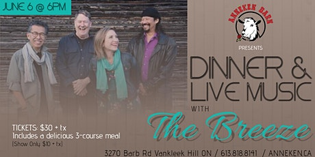 Dinner & Live Music with THE BREEZE billets
