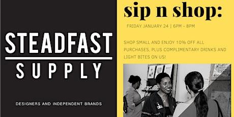 Sip n' Shop | Shop Small tickets
