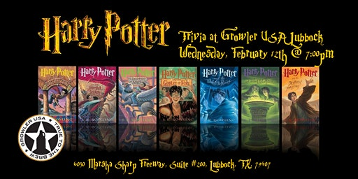 Harry Potter Books Trivia at Growler USA Lubbock