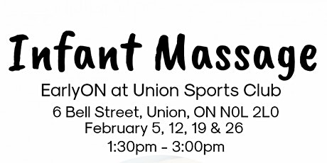 Infant Massage - Union Sports Club (February 5, 12, 19 & 26) tickets
