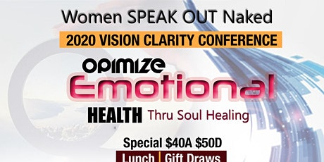 2020 Vision Clarity Conference Optimize Emotional Health tickets