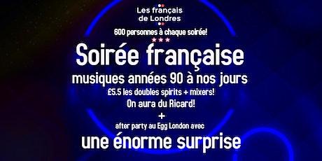 Soirée années 90 à nos jours organisée par Les français de Londres tickets