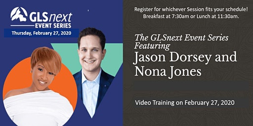 Don't miss the first GLS Next Event of 2020! - Jason Dorsey and Nona Jones