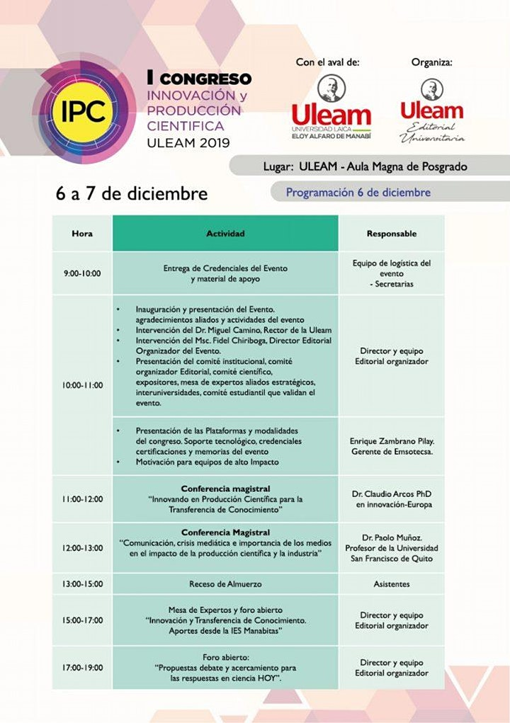 Imagen de I CONGRESO DE INNOVACIÓN Y PRODUCCIÓN CIENTÍFICA