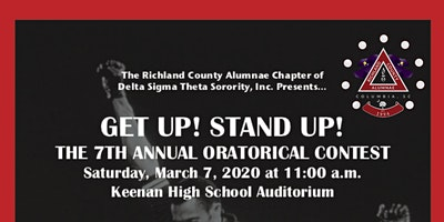 The 7th Annual Oratorical Contest: Get Up! Stand Up!