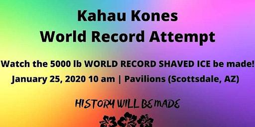 Kahau Kones World Record Attempt (biggest shaved i
