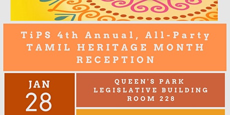 TiPS Tamil Heritage Month Reception at Queen's Park tickets