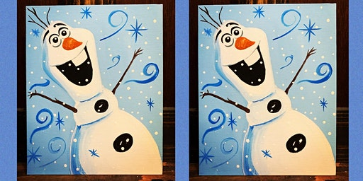 Family and Friends Olaf Paint Night and Dinner- Collingswood Pop Shop