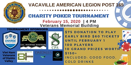 Vacaville American Legion Poker Tournament 2020 tickets