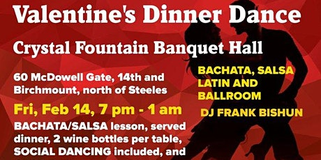 Valentine's  Bachata ,Salsa,Latin,Ballroom  Dance party tickets