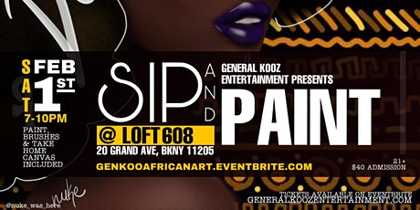 African Art Sip and Paint tickets