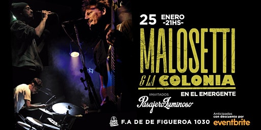 25-01 Malosetti & La Colonia en El Emergente Almagro