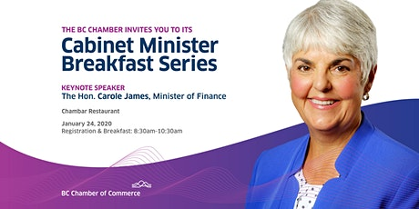 Cabinet Minister Breakfast Series: Hon. Carole James tickets
