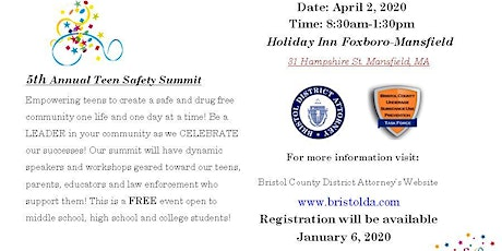 Bristol DA's 5th Annual Teen Safety Summit tickets