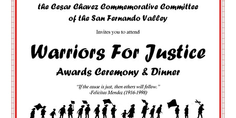 Warriors for Justice Dinner tickets