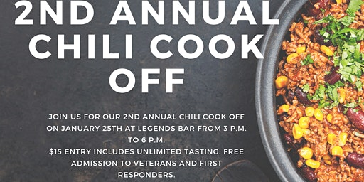 Paddle for Heroes 2nd Annual Chili Cook Off