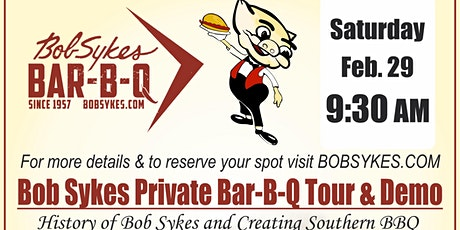 Bob Sykes BBQ Tour and Demo tickets