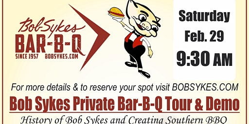 Bob Sykes BBQ Tour and Demo