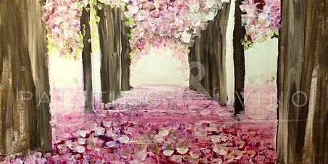 """Painting class in Long Beach! Acrylic painting, """"Romantic Path"""" tickets"""