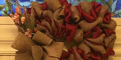 Heart Burlap Wreath Class 5:00 pm @Ridgewood Winery tickets