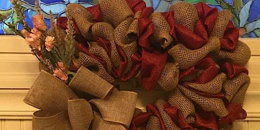 Heart Burlap Wreath Class 5:00 pm @Ridgewood Winery