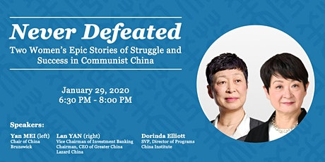Two Women's Epic Stories of Struggle and Success in Communist China tickets