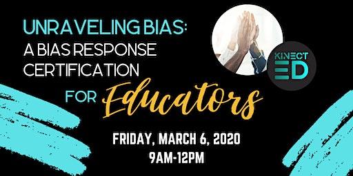 Unraveling Bias: A Bias Response Certification for Educators