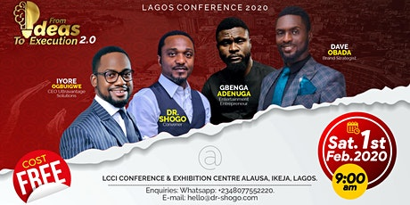 FROM IDEAS TO EXECUTION CONFERENCE,LAGOS tickets