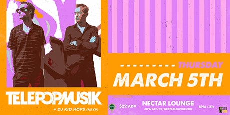 TÉLÉPOPMUSIK (LIVE) plus DJ Kid Hops (KEXP) tickets