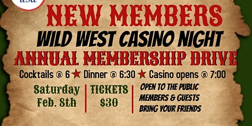 Elk Fest Annual Member Ship Drive - Casino  Night