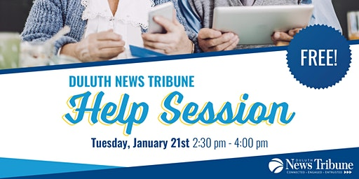 Duluth News Tribune Help Session