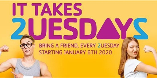 Bring a Friend TUESDAYS to the Middleboro Y in JANUARY