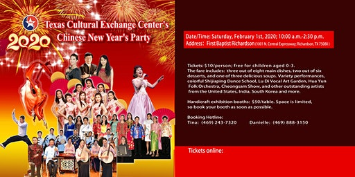 2020 Texas Cultural Exchange Center Chinese New Year's Party