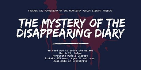 Mystery of the Disappearing Diary tickets