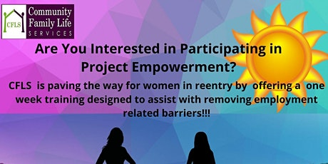 Removing Employment Related Barriers For Women in Reentry tickets