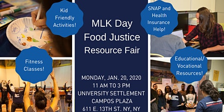MLK Day Food Justice Resource Fair tickets