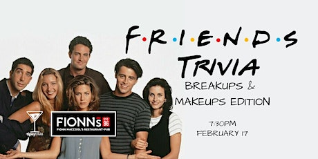 Friends Trivia - Feb 17, 7:30pm - Guelph Fionn MacCool's  tickets