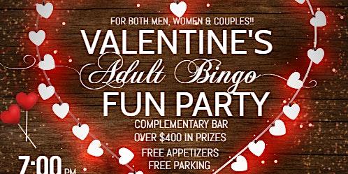 Valentine's Adult Bingo Fun Party