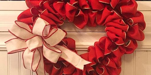 Red Heart Burlap Wreath Class 6:30 pm @Ridgewood Winery
