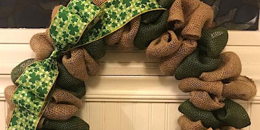 St Patrick's Day Burlap Wreath Class 6:30 pm @Ridgewood Winery