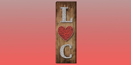 Personalized Valentine's Day String Art: Sip and Craft at Watergrasshill B&B!!!! tickets