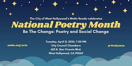 WeHo Reads/National Poetry Month - Be the Change: Poetry and Social Change tickets