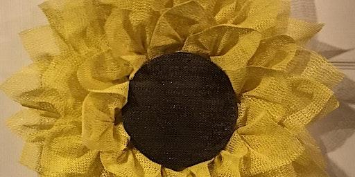 Sunflower Wreath Class 6:30 pm @Ridgewood Winery