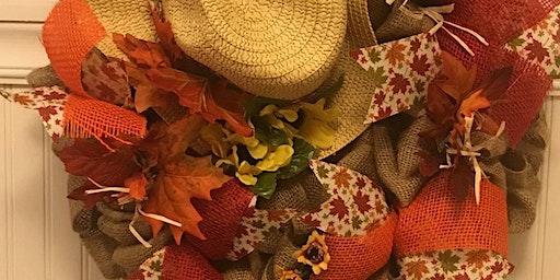 Scarecrow Wreath Class 6:30 pm @Ridgewood Winery
