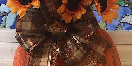 Pumpkin Wreath Class 6:30 pm @Ridgewood Winery tickets