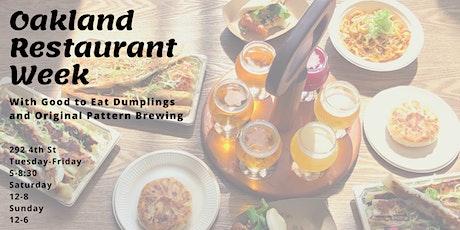 Oakland Restaurant Week at Original Pattern Brewing tickets