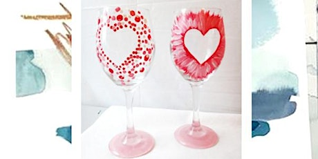 Seahawks/Valentines wine glass painting party at Top Rung Brewing tickets