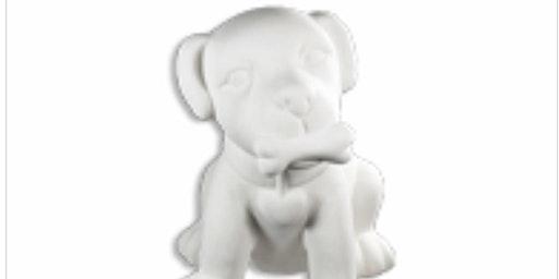 Paint & Take Ceramic Puppy Bank