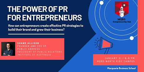 """THE POWER OF PR FOR ENTREPRENEURS"" tickets"