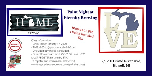 Paint Night at Eternity Brewing